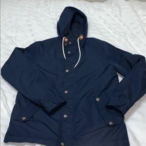 MENS Navy Blue Hooded Jacket